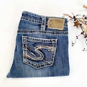 31x33 Aiko Bootcut Silver Jeans